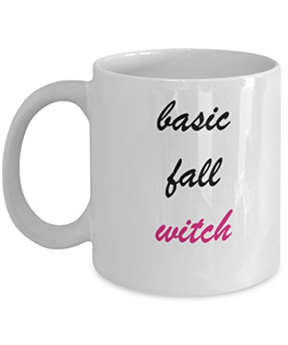 Basic Fall Witch 11 OZ Special Halloween Gift Coffee Mugs and Tea Cups 11 OZ Halloween Celebrations Gift idea Witch Broom Hat Scary ()
