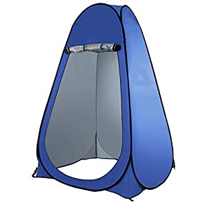 Bloodyrippa Portable Pop Up Changing Room Dressing Tent, Instant Outdoor Shower Tent, Camp Toilet, Sun & Rain Shelter for Camping, Beach, Lightweight, Foldable, Come with Carry Bag, Blue