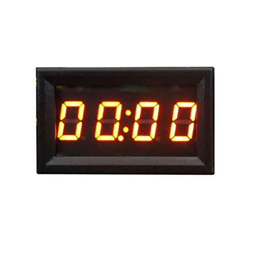 Tonsee Car Motorcycle Accessory 12V/24V Dashboard LED Display Digital Clock(Orange)