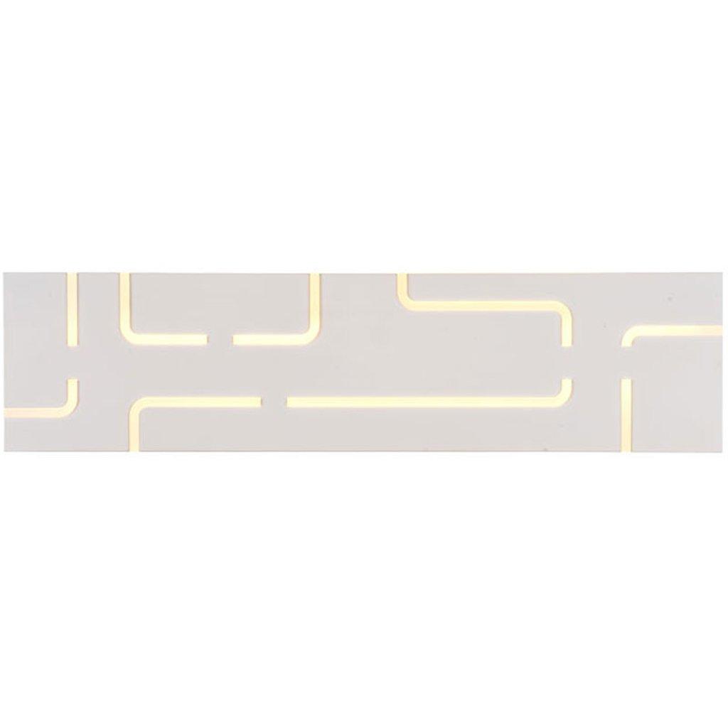 Hyzb Led-Kommode Scheinwerfer Schminkspiegel Lampe, Schmiedeeisen weiß DREI-Farben-Licht