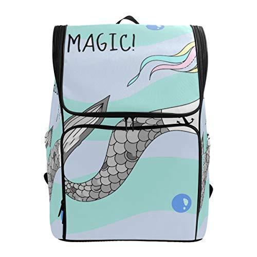 SLHFPX Travel Backpack Unicorn Mermaid Gym Backpack for Men Large Backpacking Bag
