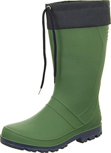 Bock Cadinho Gummistiefel Axel Jovem Sapatos Botas Dos Homens Impermeável Cleated Sola Textilsaum Cor Laços: Verde / Azul / Preto