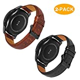 Product review for Gear S3 Frontier/Galaxy Watch (46mm) Bands with Quick Release Pins, 22mm Genuine Leather Replacement Smart Watch Band for Samsung Gear S3 Classic Sports Smartwatch (Black & Brown with Black Clasp)