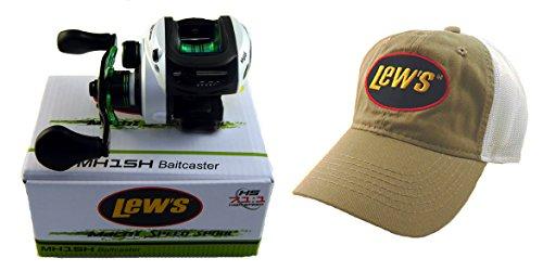 Lew's Mach I MH1SH 7.1:1 Right Hand Baitcast Fishing Reel + Hat