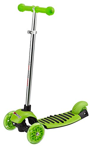 50 Mm Capacity Green - Voyage Sports Kick Scooter for Toddlers - Kick Scooter 3 Wheel Adjustable Height, Lean 2 Turn,Kids Scooters 3 Wheel with LED Light up for Boys and Girls