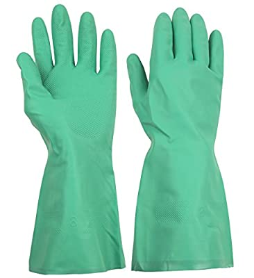 ThxToms Household Chemical Resistant Nitrile Gloves, Oil, Acid, Alkali and Solvent Resistant
