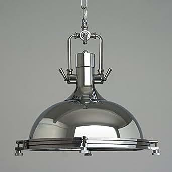 """Industrial Style Led Pendant Light 15.75"""" Wide Pendant Lamp Fixture Chandelier Chrome E27 Kitchen Lamp"""