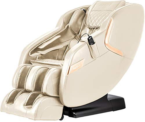 Titan Luca V D Massage Chair, Cream, Advanced L-track Massage, Full Body Airbag Massage, Zero Gravity, Advanced Foot Rollers, Heat On Lumbar, Space Saving Technology, Bluetooth Speakers