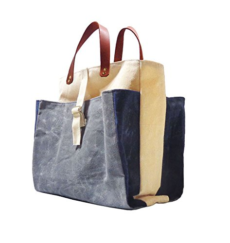 Expandable Pop Market Tote, Charcoal by Velvet Lapin