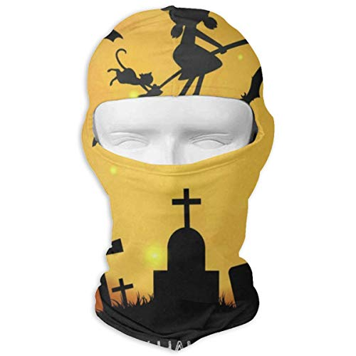 Balaclava Cute Witch Flying Halloween Party 31St October Full Face Masks UV Protection Ski Hat Sports Cap Motorcycle Hiking Women Men -