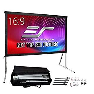 """Elite Screens Yard Master 2, 120-inch Outdoor Indoor Projector Screen with Stand 16:9, Fast Easy Snap On Set-up Freestanding Portable Movie Theater Cinema Foldable Front Projection 120""""   OMS120H2"""
