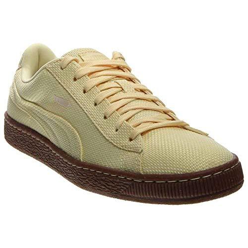 PUMA Men's Basket Ripstop IC Mellow Yellow/White Swan Sneaker 9 D (M)