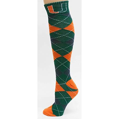 Donegal Bay Miami Hurricanes Argyle Fuzzy Lounge Socks ()