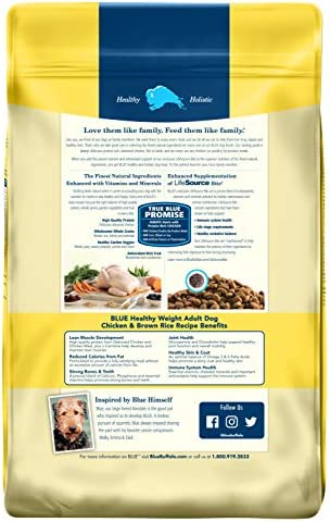 Blue Buffalo Comida para Perro Chicken and Brown Rice Weight Control, 13.6 kg 3