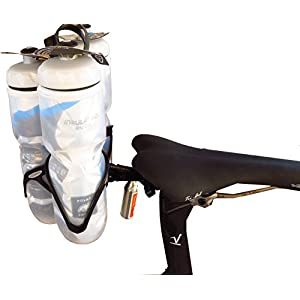 THREE Bottle Holder - Behind The Saddle - Includes Cages - Valdora