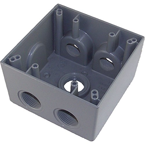 Made in USA Weatherproof Electrical Outlet Box (5) 3/4