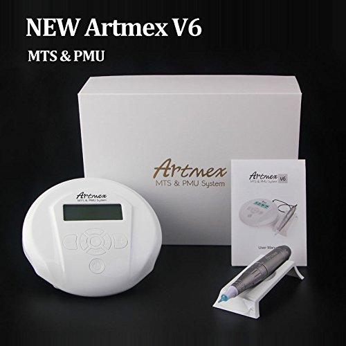 Miss Ammy Digital Artmex V6 Eyebrow Lip Permanent Makeup Tattoo Machine Pen Kit with 10PCS Needles
