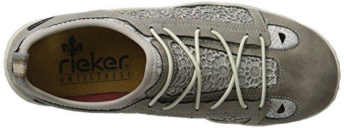 L0571 Basses Gris staub Rieker silverflower staub staub silber Femme Sneakers BZwCvCdq