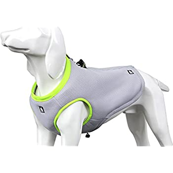 SGODA Dog Cooling Vest Harness Cooler Jacket Grey Green Medium