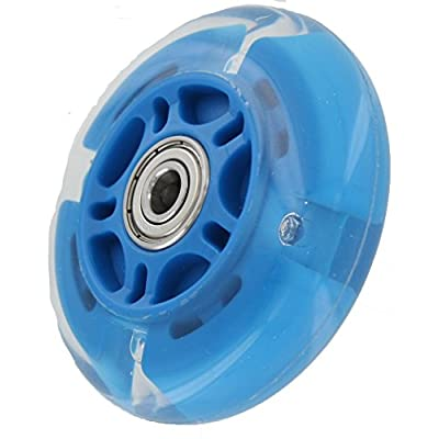 Ohio Travel Bag 72mm in-line Skate Wheel with LED Lights - Blue Polyurethane : Sports & Outdoors
