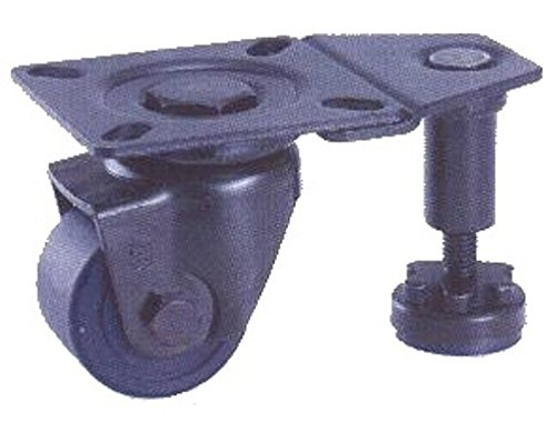 2'' Leveling Swivel Caster, Nylon Wheel, 700 lb. Capacity, Square Top Plate