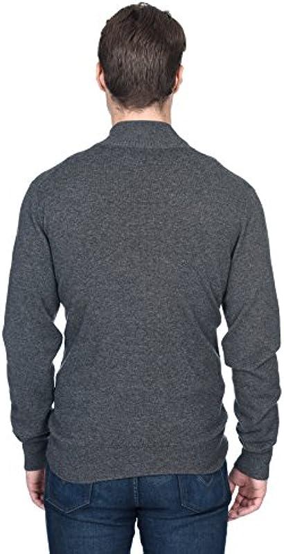 State Fusio Męska kurtka z dzianiny kaszmir-wełna merino sweter z zamkiem błyskawicznym na całej długości i stÓjką drobno dzianina, sweter z długim rękawem: Odzież