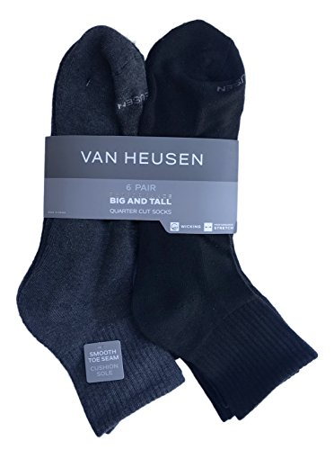 Van Heusen 6 Pair Big and Tall Men's