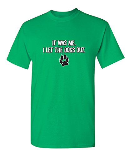 It was Me I Let The Dogs Out Graphic Cool Novelty Funny Youth Kids T Shirt YM Irish (Irish Love Green Boys)