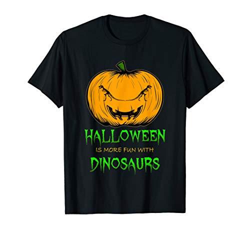 T Rex Dinosaur Skeleton Pumpkin Carving Halloween Clip Art T-Shirt -