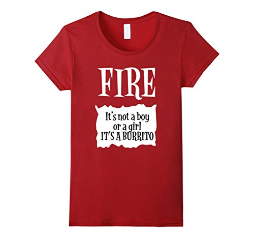 Pregnant Lady Halloween Costumes Ideas (Womens Halloween Costume T Shirts - Fire Hot Sauce Packet Taco Tee Medium Cranberry)