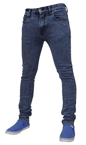 True Face - Herren Jeans Dehnbar Hauteng Reißverschluss Hosenschlitz Baumwolle Hose - 38WX34, TF021 - Mittelblau
