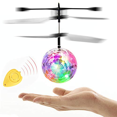 Orcbee  _Flying RC Ball Infrared Induction Mini Aircraft Flashing Light Remote Toys for Kids