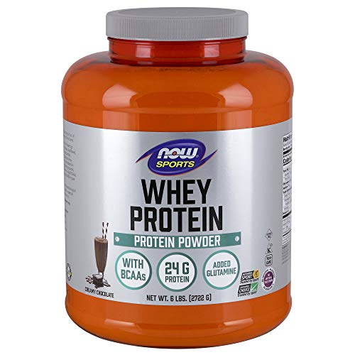 NOW Sports Whey Protein, Creamy Chocolate, 6-Pound