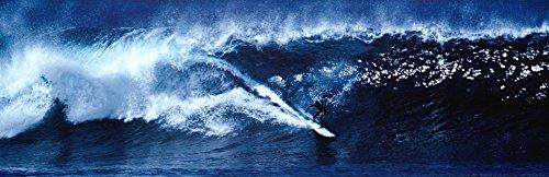 Laminated High Surf Surfing Big Wave Panorama Poster 36 x (Panorama Laminated Poster)