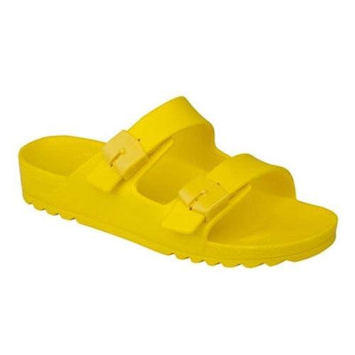 adb0360b3ed173 Scholl Bahia Ladies Buckle Sandals Yellow: Amazon.co.uk: Shoes & Bags