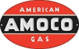 American AMOCO Gas Sign 11X18 Oval