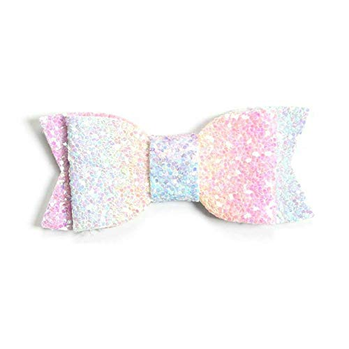 Cute Baby Girls Toddlers Big Bow Hair Clips Sequins Alligator HHairpins Barrettes (Color - 7#) - Lollipop Hair Bows