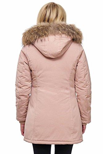 Elara Elara Donna Giacca Parka Pink Giacca Donna Parka rqFUwr