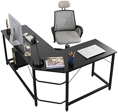 EPHYTECH Modern L-Shaped Desk Sturdy Computer PC Laptop Table Corner Computer Desk Workstation Larger Gaming Desk Easy to Assemble