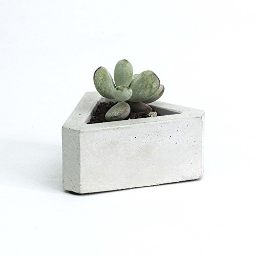 Funnytoday365 3D Flowerpot Silicone Mold Handmade Triangular Concrete Mould For Succulent Plants Cement Plate Home Decoration