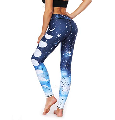 e0797e690a517 Women's Rainbow Printed Yoga Pants Workout Yoga Gym Leggings Skinny Tights  (Galaxy, S)