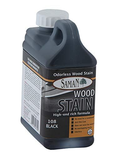 SamaN Interior Water Based Stain for Fine Wood, Black, 1 - Stain Wood Epoxy
