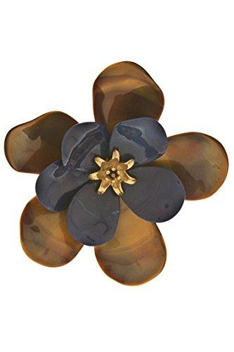 KARMAS CANVAS PLASTIC FLOWER BROOCH (Navy)