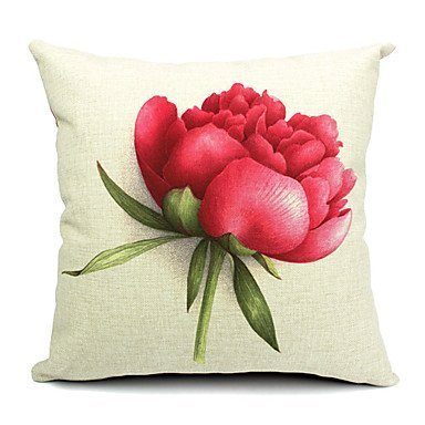 Lumimi Summer Flowers Cotton/Linen Decorative Pillow Cover ( 20*20 in ()