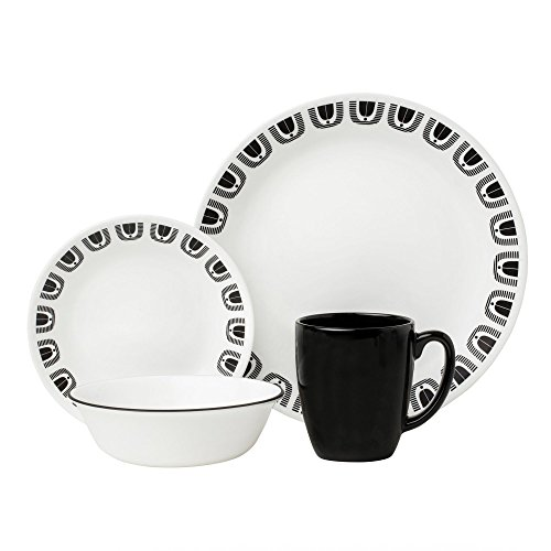 corelle black and white dishes - 8