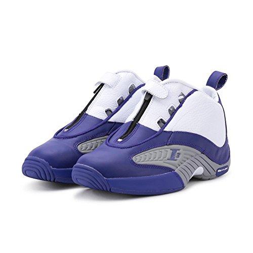 Reebok Answer IV pe–Scarpe, Uomo, Viola–, Team Purple/Flat Grey/White)