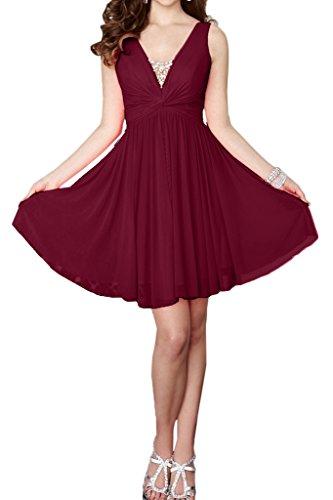 Missdressy -  Vestito  - plissettato - Donna rosso vivo 40