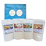 Low Carb Keto Flour Substitute for Baking, Multi Grain Bread Flour + Cake Flour + Pizza and Bagel Flour + Biscuit and Pie Crust Flour by LC Foods, Keto & Atkins Diet Baking Mix