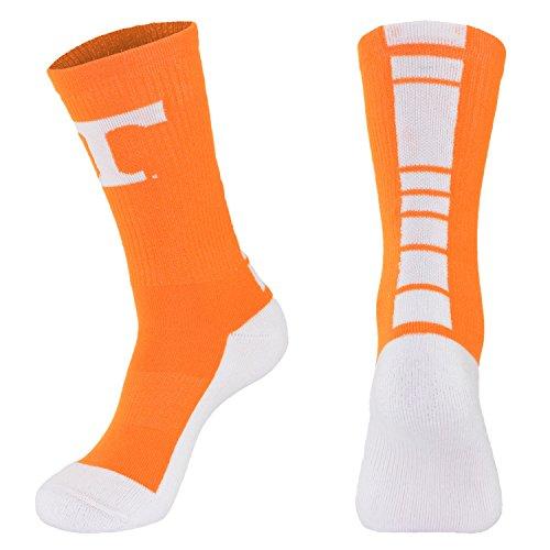 NCAA Tennessee Volunteers Men's Champ Performance Crew Socks, Orange, Large