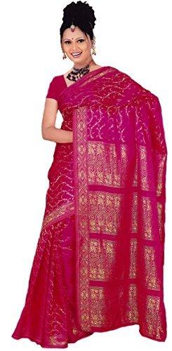 sari india bollywood gewickelter La taglia rosa S Eq0TOPf